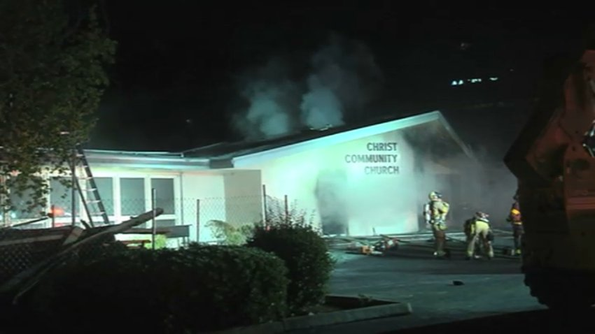 Man arrested after second church fire in Concord