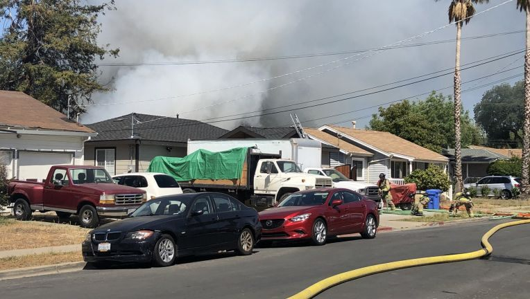 Firefighters respond to house fire near Concord BART station